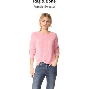 Rag & bone francie crew sweater